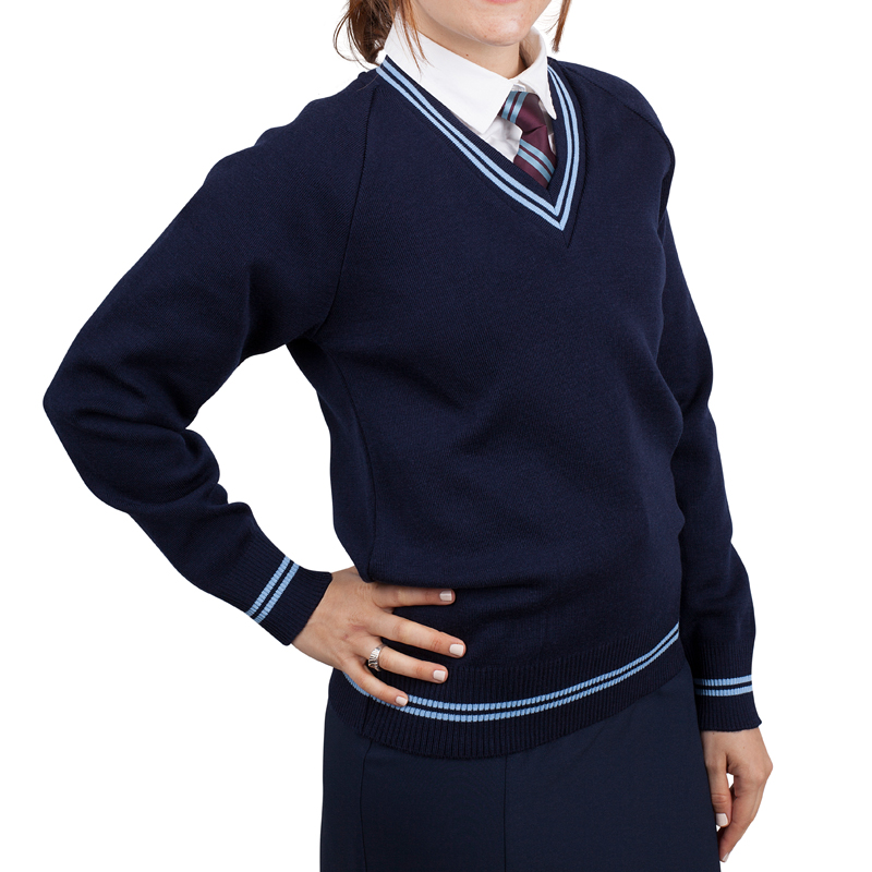 School Jumper girls navy