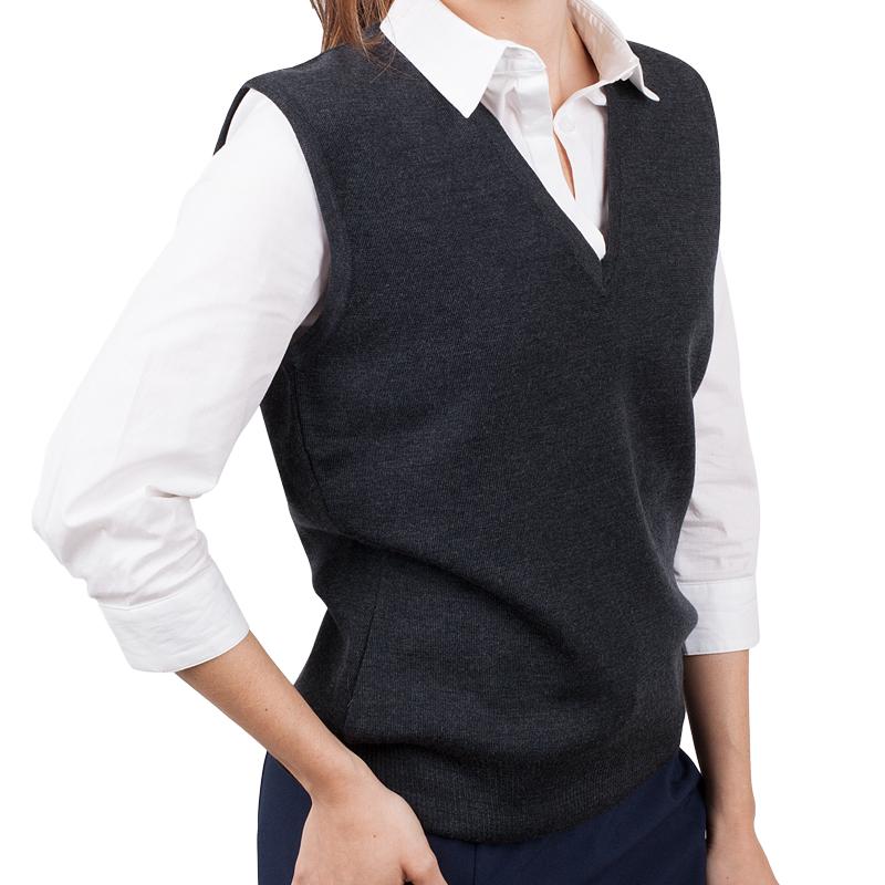 Womens Merino Wool Vest Charcoal