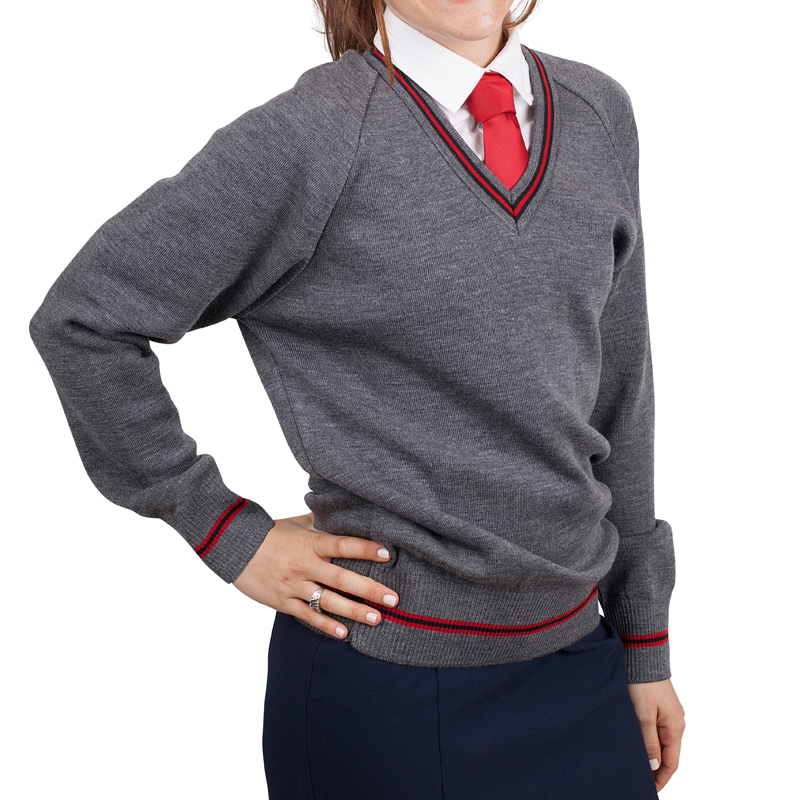 School Jumper girls grey