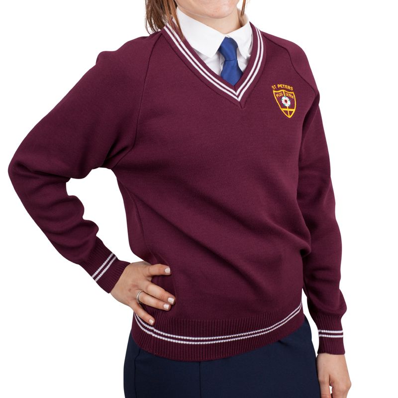 School Jumper girls maroon
