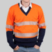 hi viz knitwear with safety tape
