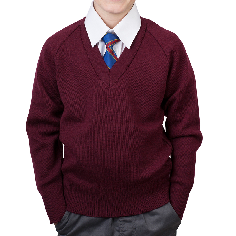School Jumper boys maroon