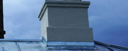 Skorstensinddækning på Det Grå Fyr i Skagen