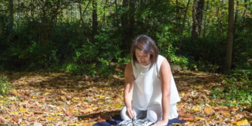 Emiko先生 手作り🌻残暑見舞い〜日本の書の心〜