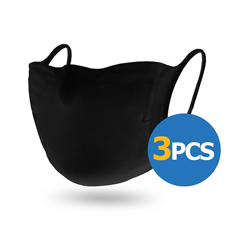Face Mask FHC 3 PCS – Reusable everyday mask Black
