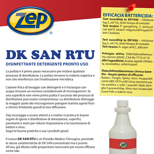 DK SAN - Floor and Surface Disinfectant