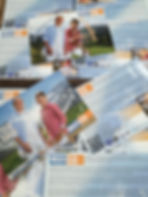 Autogrammkarten Wolkenblau