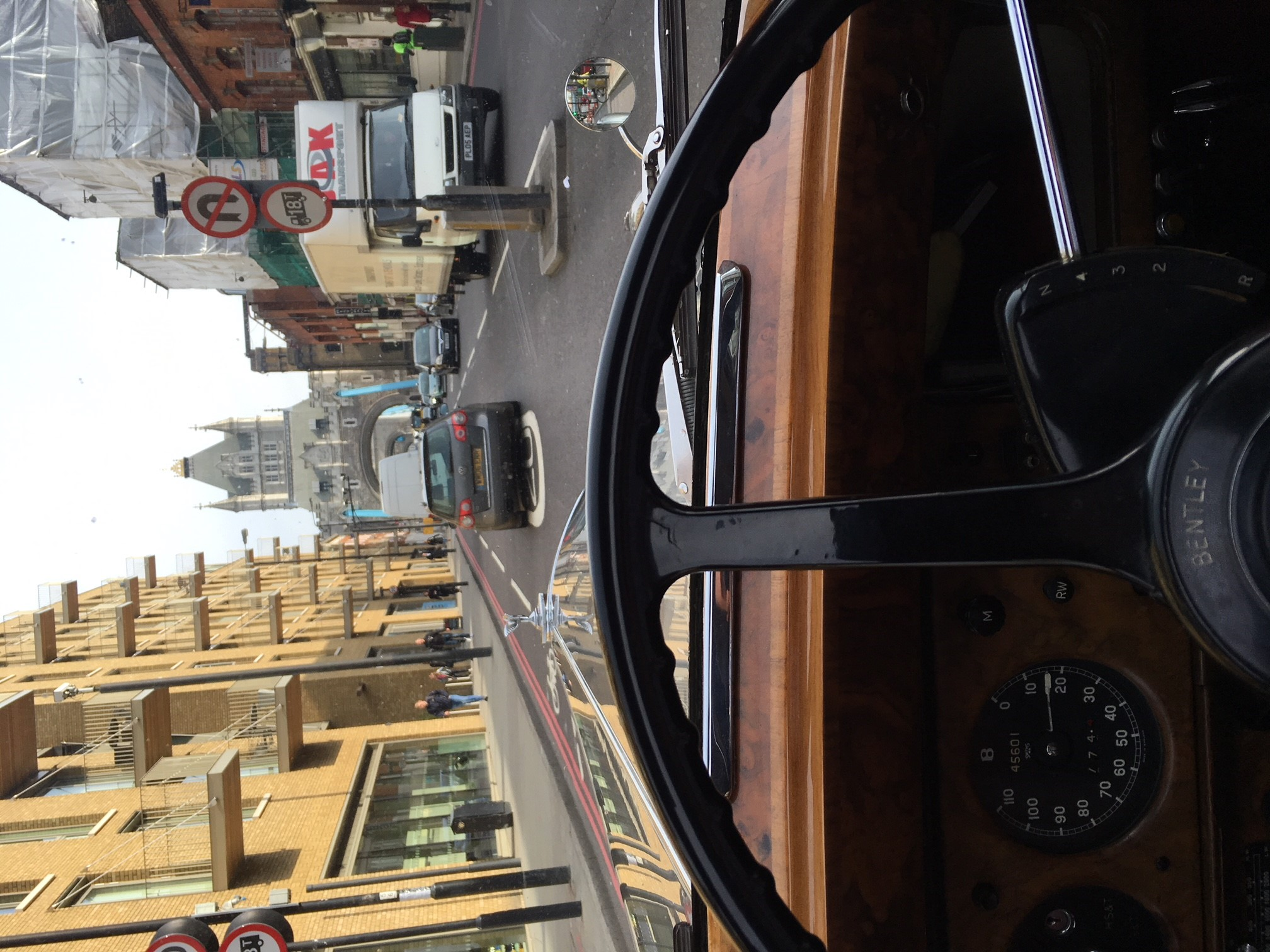Driving over Tower Bridge