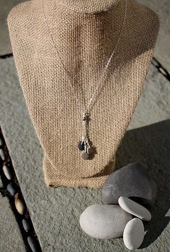 Tiny Stone Drop Pendant