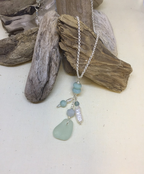 Beach glass drop pendant home jules beach glass drop pendant mozeypictures Image collections