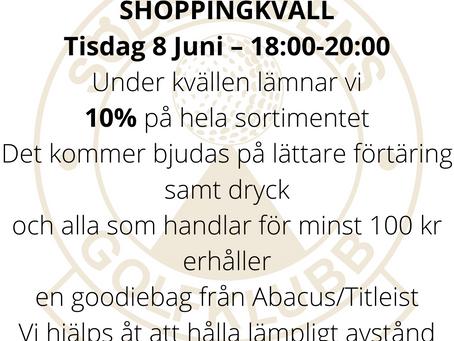 Shoppingkväll 8 Juni