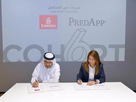 Emirates signs MoU with Predapp GmbH from Dubai Future Accelerators programme