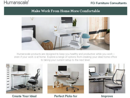 Special #WFH furniture and deals from FCi and Humanscale! 🤩