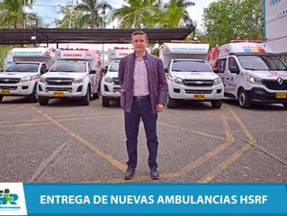 Gobernación de Cundinamarca entrega dos nuevas ambulancias al Hospital de Fusagasugá