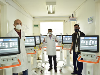 Entregan siete ventiladores más para Hospital de Fusagasugá