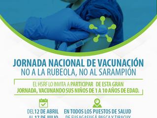 Jornada de Vacunación Contra Sarampión y Rubeola
