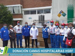 Cruz Roja dona camas hospitalarias y equipos biomédicos