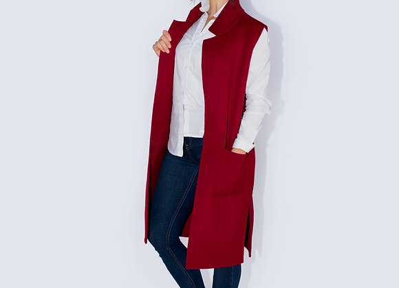Handmade cashmere reversible sleeveless coat