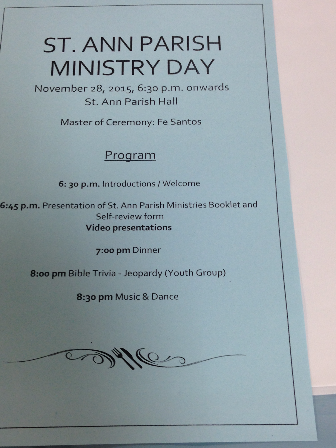 Parish Ministry Day (Nov 2015) | St  Ann Parish