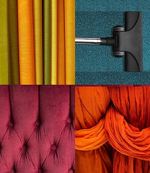 Carpets, upholstery, drapes, curtains -