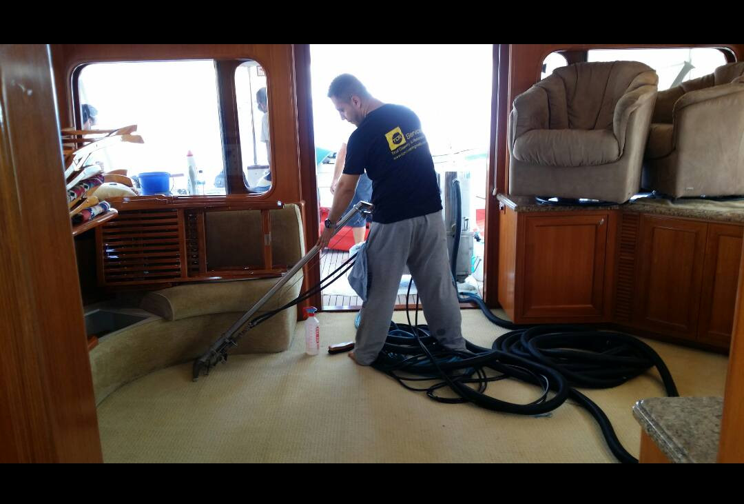 Superyacht carpet cleaning