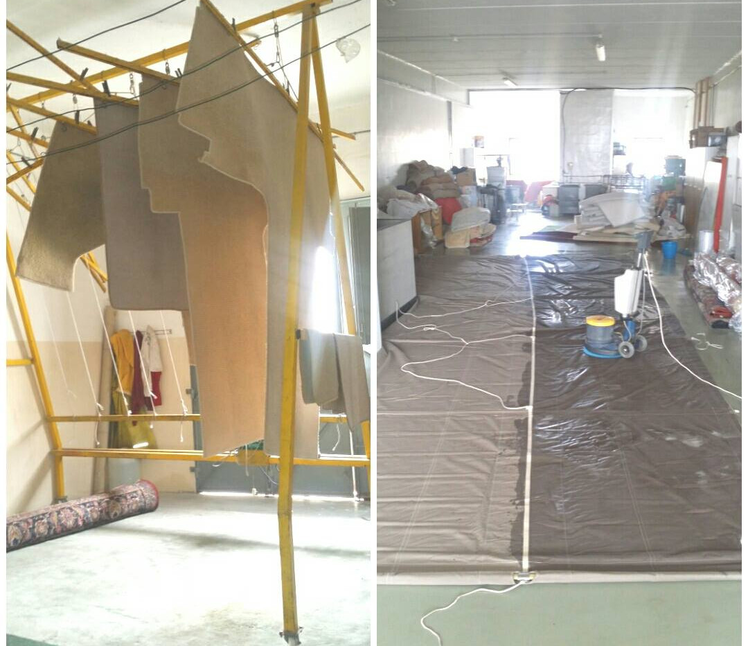 Cleaning of sails, carpets and upholsery
