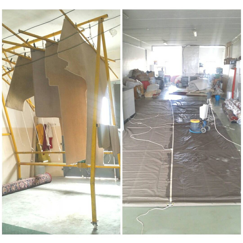 Cleaning of sails, carpets and upholster