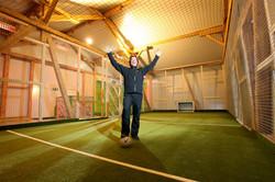 Käfig Fussball Platz Indoor