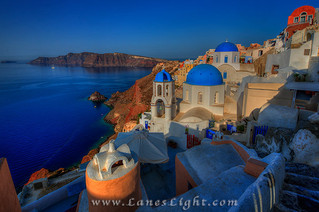 Sunrise from Oia on Santorini, Greece