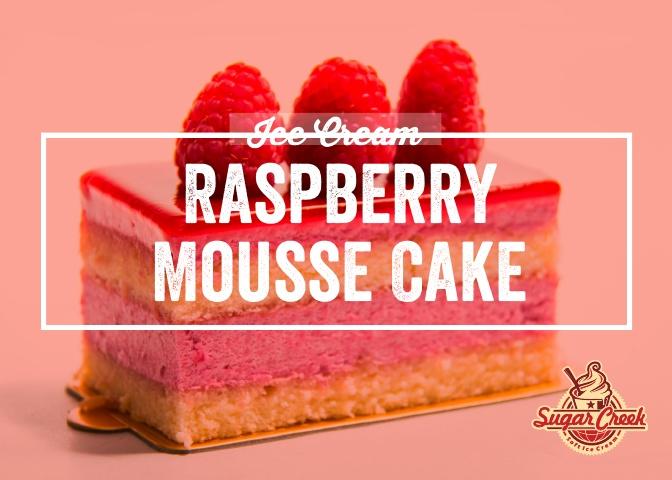 Ice Cream Twist - Raspberry Mousse Cake.
