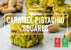 Gelato Twist - Caramel Pistachio Squares
