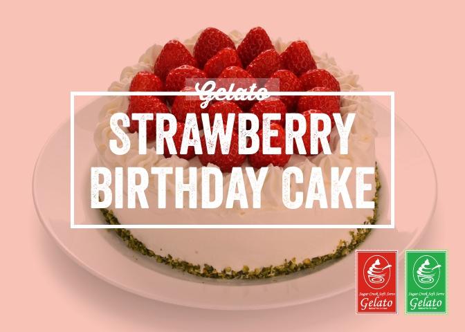 Gelato Twist - Strawberry Birthday Cake.