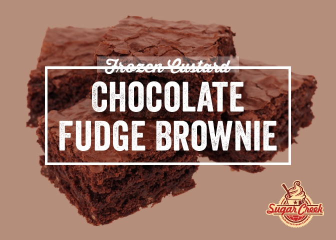 Custard Twist - Chocolate Fudge Brownie.