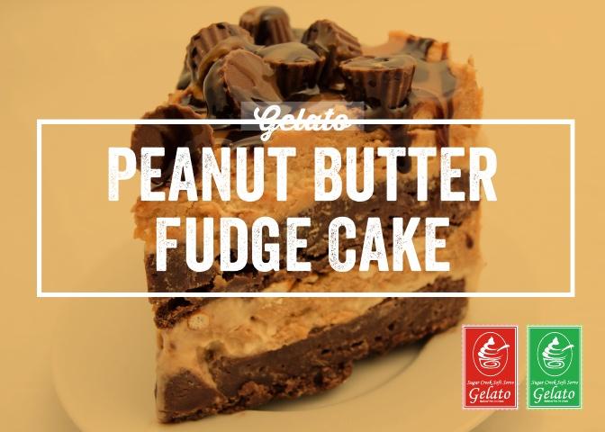 Gelato Twist - Peanut Butter Fudge Cake.