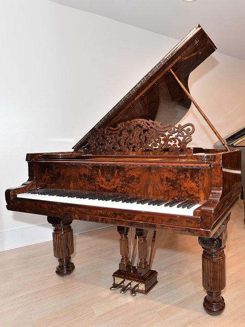 Steinway Grand Piano Model A in burled walnut