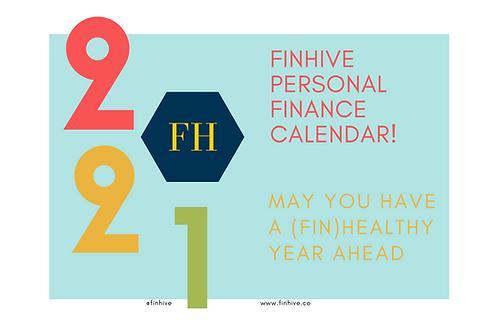 Personal Finance Calendar - January 2021