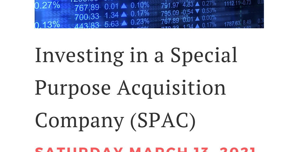 Investing in a Special Purpose Acquisition Company (SPAC)