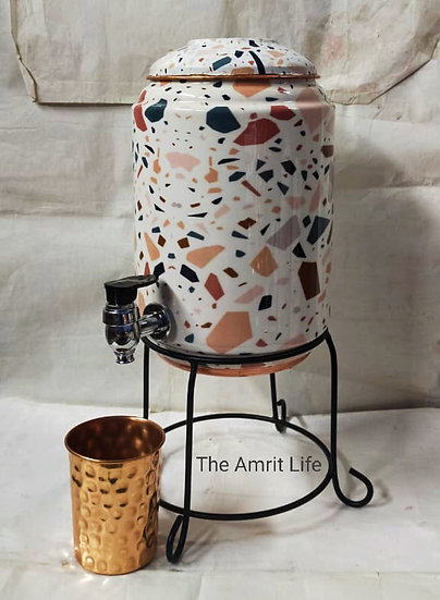The Amrit Life Pure Copper Enamel Coated Dispensers 5 Litrers Enamel Coated