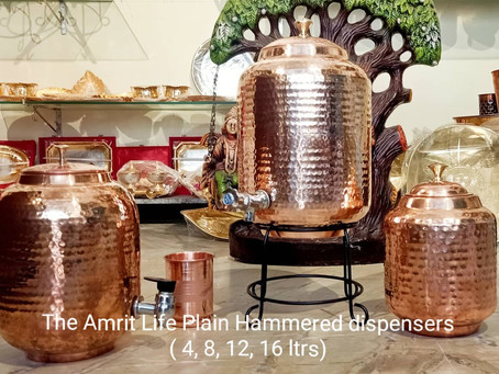 The Amrit Life Pure Copper Dispenser ( 4 to 16 Litres)