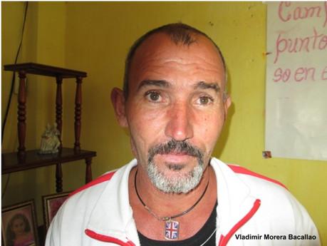Vladimir Morera Bacallao preso político y en huelga de hambre desde el 9 de octubre.