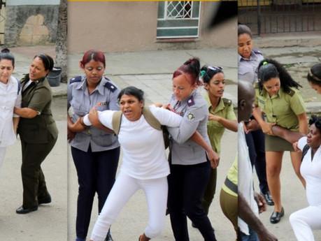 Reprimen manifestación y arrestan a decenas de Damas de Blanco