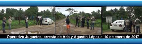 """Ada y Agustin López arrestados para impedir entrega de juguetes a unos 100 niños en en """"Esperan"""
