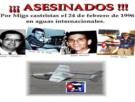 24 de Febrero Hermanos al Rescate asesinados por los Castro