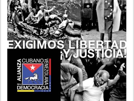 ACTO-PROTESTA contra la farsa electoral en Venezuela