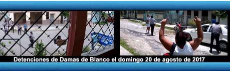 Detenciones de Damas de Blanco el 20 de agosto de 2017.