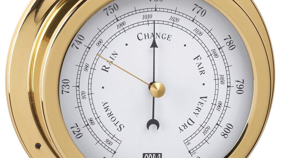 Barometer, Polished brass 70mm face