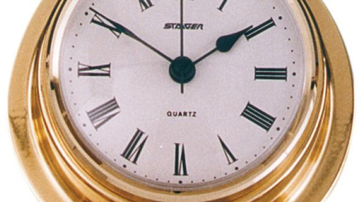 Clock 70mm face polished brass
