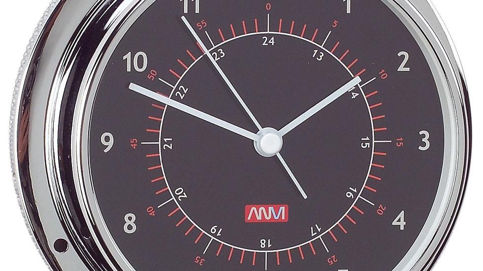 Clock 95mm Black Face