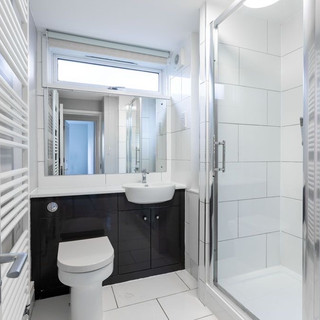Shower room with built in storage
