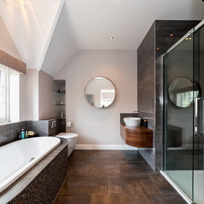 Luxury bathroom with contemporary fittings